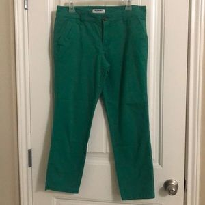 Old Navy green crop pants